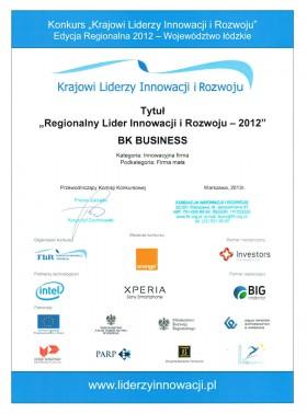 Tytuł Regionalnego Lidera Innowacji i Rozwoju