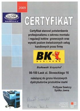 Certyfikat PolSpaw