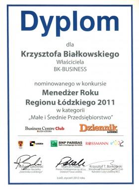 Nominacja w konkursie Menedżer Roku 2011